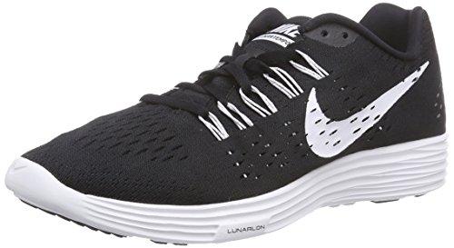 Nike Ritmo Lunar Tênis De Corrida Dos Homens Negros (001 Preto / Branco-branco)