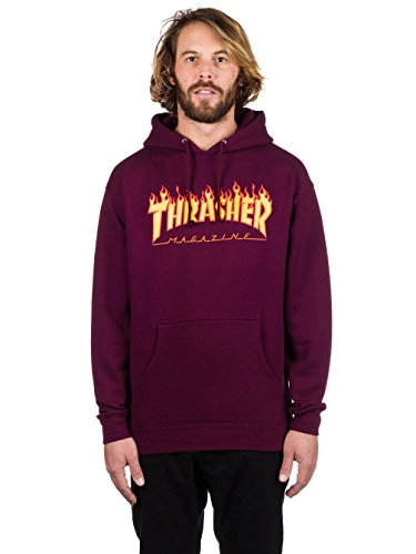 Thrasher Flame Sudadera con capucha maroon