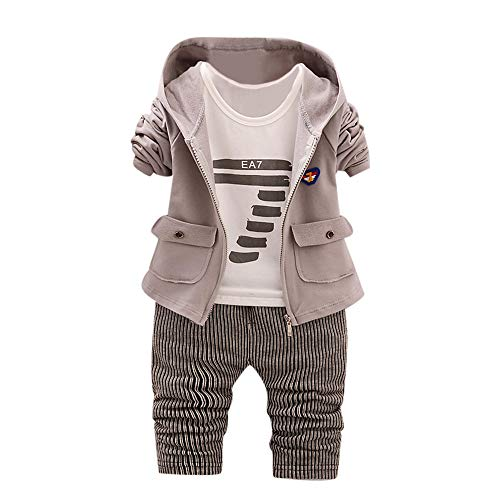 sunnymi 0-24 Monate Baby Jungs Mädchen Hoodie Tops Hosen Mantel Kleidung Sets Outfits