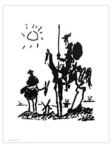 Close Up Pablo Picasso Don Quixote Kunstdruck (40cm x 50cm)