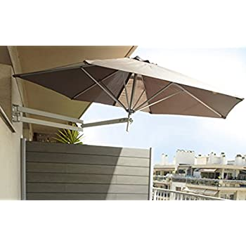 easysol parasol mural aluminium taupe 250 cm. Black Bedroom Furniture Sets. Home Design Ideas