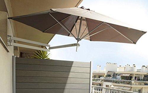 Easysol easysol-taupe - Sombrilla para patio, gris