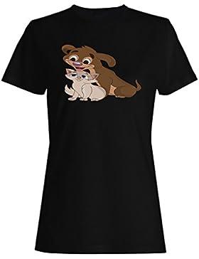 Novia, novio, divertido, vintage, arte camiseta de las mujeres a141f