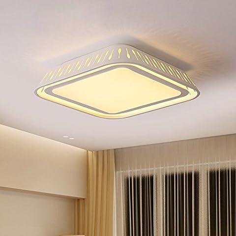 GQLB Plafonnier Led carré 28W Simple moderne salle de séjour chambre à coucher Lampe lumière 3000-6000K 500 Gradateur Intelligent * 500 *