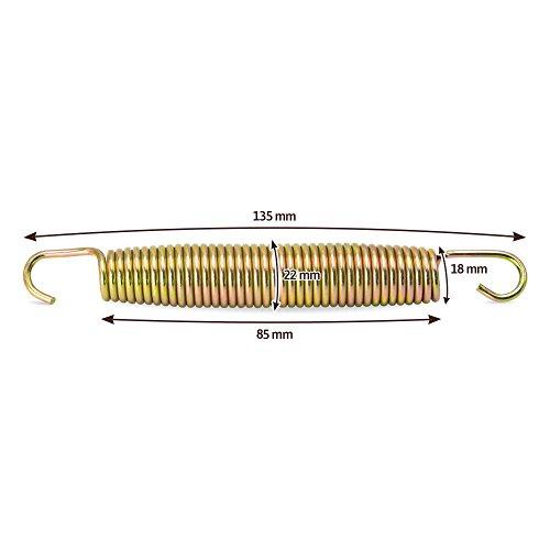 awm® Trampolin Federn (135, 145, 165, 178, 185, 215 mm) Sprungfedern Ersatzfedern Spiralfedern (60x 135mm)