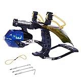 CX TECH Pesca Leggera Catapulta da Pesca Slingshot Reel da Caccia all'aperto Arco Potente in Metallo Thrower Set