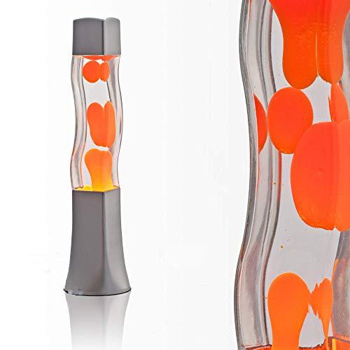 Lámpara de lava 41cm magma naranja E14 25W con interruptor de cable Idea para regalar Navidad incluyendo...