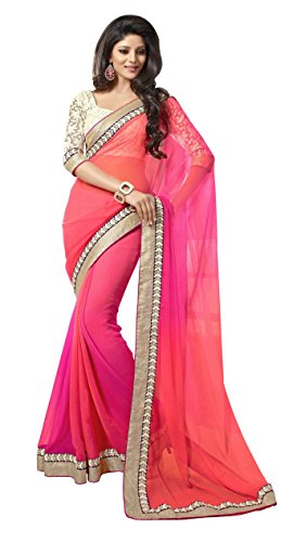 MAMTA ABHISHEK Chiffon Saree (k8_Pink)  available at amazon for Rs.249