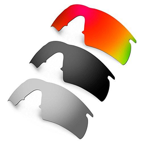 HKUCO Plus Mens Replacement Lenses For Oakley M Frame Hybrid - 3 pair