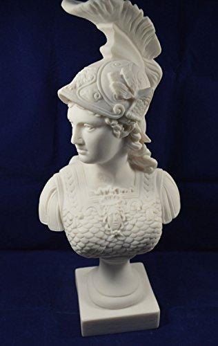 Athena Diosa Escultura Busto Minerva griego antiguo gran busto
