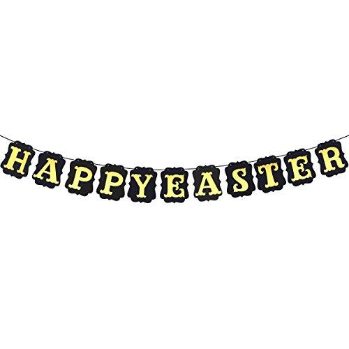 BESTOYARD Frohe Ostern Streamer Banner Ostern Galand Bunting Decor Foto Requisiten für Ostern Party Favors (Papier Streamer Ideen)