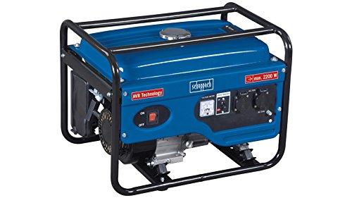 Scheppach 5906212901 Generator/Stromerzeuger SG2600, zuverlässige Stromversorgung egal ob Baustelle oder privates Umfeld, robuster Stahlrahmen schützt und dient dem Transport, 6,5 PS, 2200 W, 230 V -