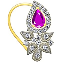 TWISHAS NEW NOSE PIN GOLD PLETED AMERICAN DIAMONDS FOR GIRLS AND WOMEN FASHION JEWELLERY