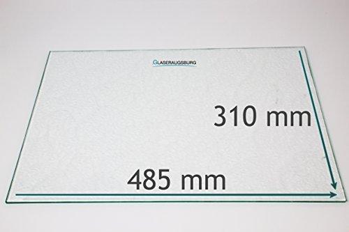 Kühlschrank Einlegeboden/Glasplatte / Gemüsefach – Strukturglas 4 mm dick – 485 mm x 310 mm - Direkt vom Glasereifachbetrieb!!!