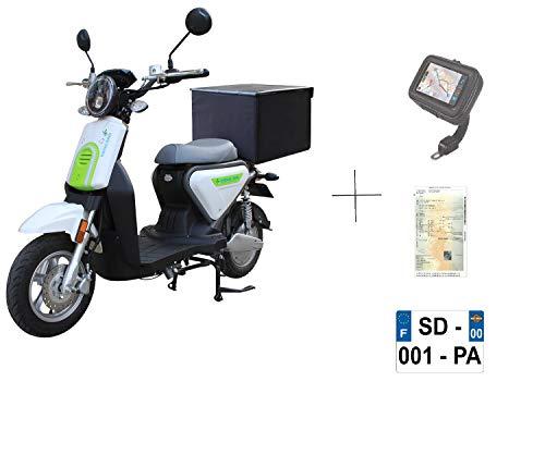 EUROCKA CKA Express - Scooter eléctrico (batería de Litio extraíble, 2 años), Color Blanco