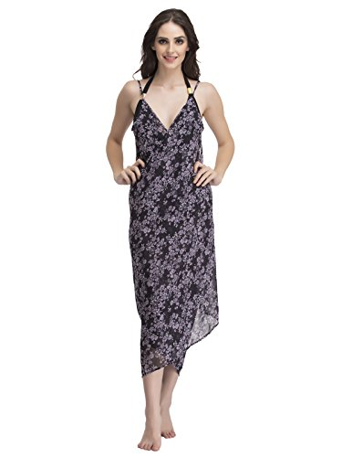 Clovia Women Crepe Floral Print Sarong With Overlapping Style