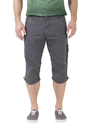 Timezone Herren Shorts Comfort Carlo, Grau (Beluga Grey 9162), W33 -