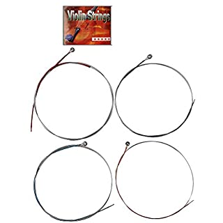 kuou Premium Quality Violin Strings, 4/4 or 3/4 String Set, Classic Silver Violin String Set