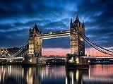 Fototapete Towerbridge London 350cm Breit x 260cm Hoch Vlies Tapete Wandtapete - Tapete - Moderne Wanddeko - Wandbilder - Fotogeschenke - Wand Dekoration wandmotiv24