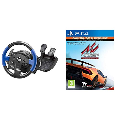 Thrustmaster T150 Force Feedback Volante - PS4/PS3/PC + Assetto Corsa - Ultimate - Playstation 4