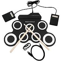 tyughjytu Grupo de Percusiã³n del Tambor del USB del Kit de Baterãa Electrã³Nica G3002 Instrumentos de Percusiã³n para Niã±Os