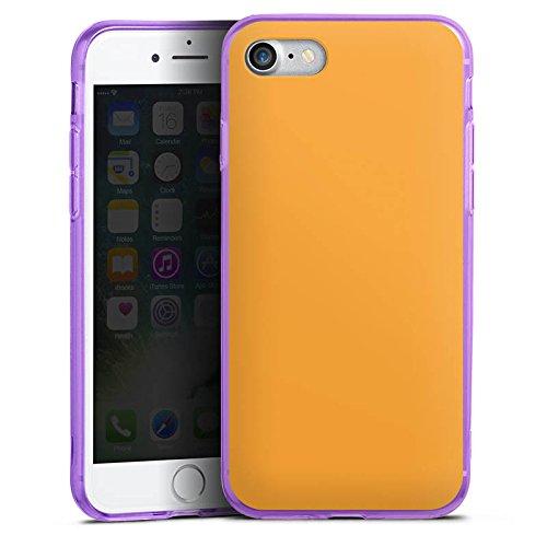 Apple iPhone 8 Silikon Hülle Case Schutzhülle Melonen Farbe Orange Silikon Colour Case lila