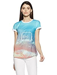 Symbol Amazon Brand Women's Printed T-Shirt