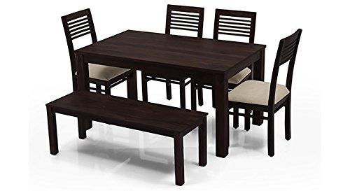 Urban Ladder Arabia Zella Six Seater Dining Table Set (Mahogany)