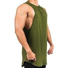 ZODOF Chaleco de Deporte para Hombre Camisetas sin Mangas con Letras Impresas Camisas de Tirantes Hombre