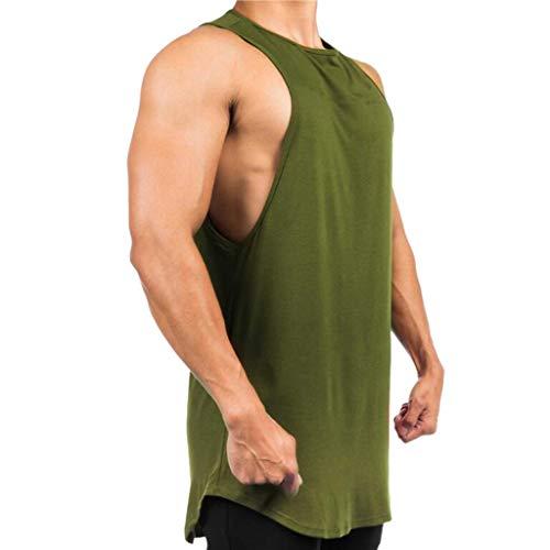 Shangqi Cut Off Tank Muscle Shirt Tank Top Gym Fitness Herren Tank Top mit Rundhalsausschnitt T-Shirt Designer Aufdruck Sport Style Cut Off Tank Top Shirt Gym Fitness