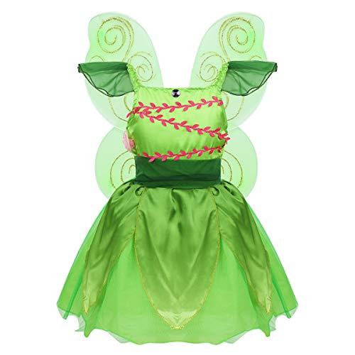 Agoky Disfraz Hada Campanilla Niña Cosplay Elfo Princesa