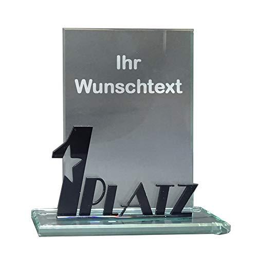 RaRu Glas-Pokal mit Acryl-Schriftzug (1 Platz) und mit Ihrer Wunschgravur