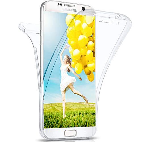 moex Samsung Galaxy S6 Edge | Hülle Silikon Transparent 360 Grad Double Side Cover Dünne Schutzhülle Slim Handyhülle für Samsung Galaxy S6 Edge Case Transparent Silikonhülle TPU