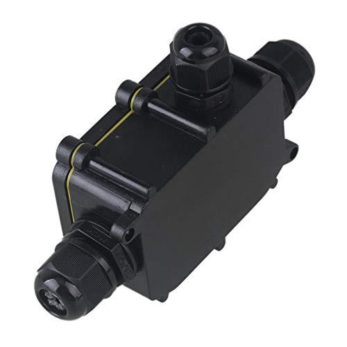 Yangge Yujum Wasserdicht Schwarz IP68 Kunststoff-Kabel-Draht-Anschluss Gland Elektrischer 3-Kabel-Anschlussdose mit Klemme -