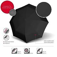 Knirps T.200 Medium Duomatic Folding Umbrella, 28 cm, Black