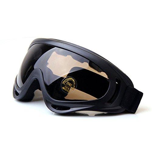 QMFIVE Airsoft X400 Winddichte Staubdicht Schutz Taktische Schutzbrille Motorrad Gläser Transparente Linse für Jagd Radfahren Skifahren Taktische Outdoor Sport (CS)