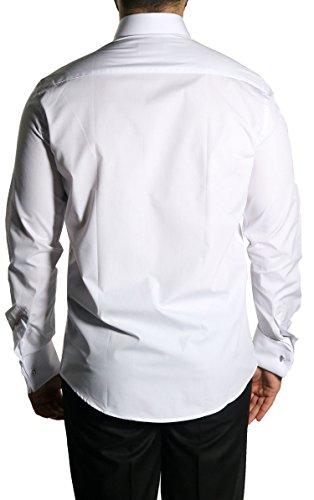 MUGA Homme Chemise Cérémonie poignets français Blanc