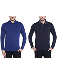 Dream Of Glory Inc. Men's Branded Full Sleeve Polo Oxford Collar Buttoned Pocket T-Shirts Men Also In Plus Sizes...