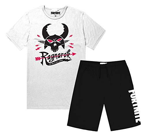 fortnite - Conjunto de Camiseta y Pantalones Cortos para Hombre Gris Gris L