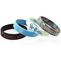 Lorh's store Basketball Russell Westbrook Porträt Armband Nummer 0 Silikon Inspirierende Wort Sport Schweißbänder 4 Pcs