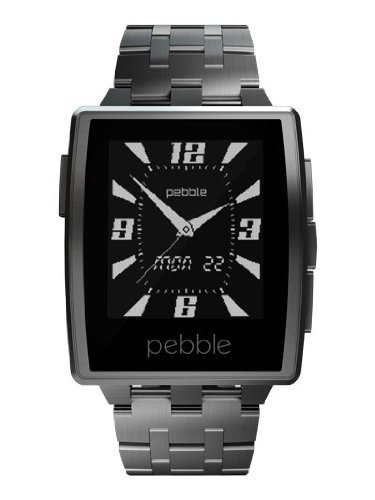 Pebble Steel Smart Watch with Steel and Leather both band
