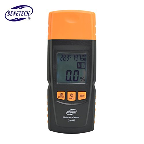 Topker GM610 Digital LCD Display Holzfeuchtigkeitsmesser Feuchtigkeitsmessgerät Holzfeuchte Detektor Hygrometer