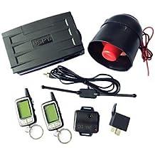 YF SPY 2 way LCD de seguridad de alarma para mando a distancia de coche motor Start con sistema de 24 horas reservación modo