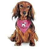 EQT-TEC Hunde Signalban Halsband Halstuch süß ' Hot Pink Ladies ' Hundehalsband Hundehalstuch (S - ca. 55 cm)