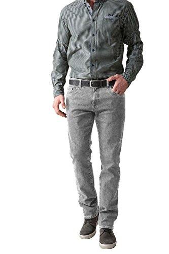 STOOKER Herren Stretch Jeans Hose New Frisco - versch. Farben (33/32, 7243 Silver Grey Denim) (33 Jeans 32 Silver)