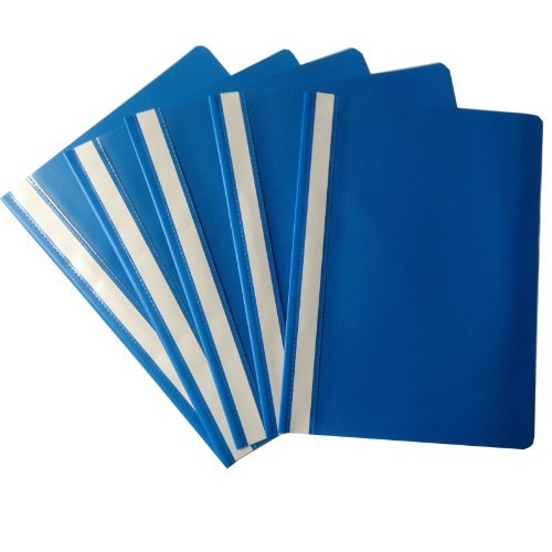 100 x Schnellhefter DIN A4 Kunststoff Sichthefter Schul-Hefter blau Kunststoff plastik Schule Büro
