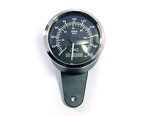 Custom Hohe Qualität Schwarz Motorrad GPS Analog Tacho - Analog Gps