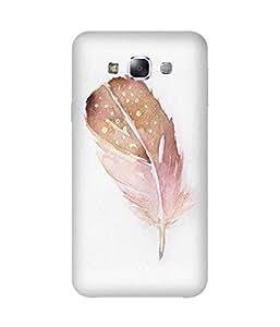 Peach Feather Samsung Galaxy E5 Case