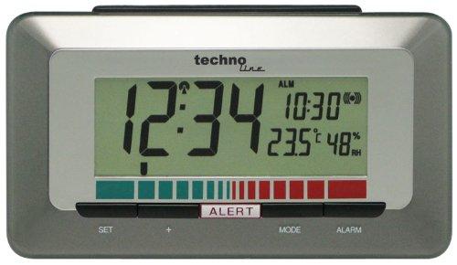 Technoline Luftgütemonitor WL 1000 mit Innentemperaturanzeige und Luftgütesensor zur Überwachung der Raumluftqualität,braun, 15,0 x 4,8 x 8,5 cm