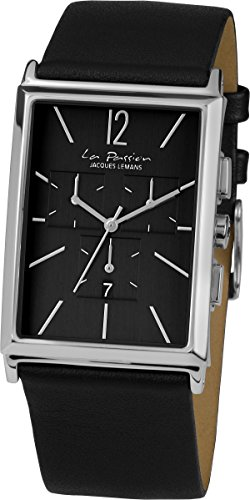 Jacques Lemans Reloj Cronógrafo para Unisex Adultos de Cuarzo con Correa en Cuero LP-127A